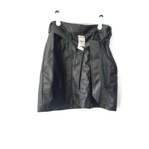 NEW Express Faux Leather Career Mini Skirt 0